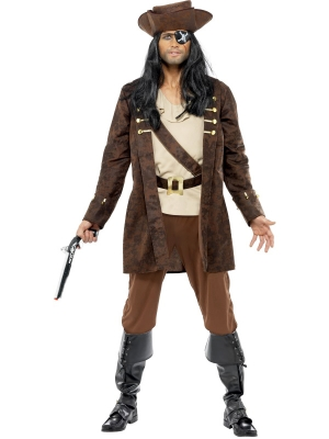 Pirāta kostīms, brūns