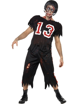 Zombie Footballer Costume with Helmet
