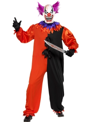 Scary Bo Bo the Clown Costume and Mask