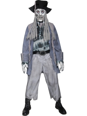 Zombie Ghost Pirate Costume with Mask