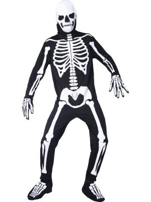 Костюм скелета светится в темноте
